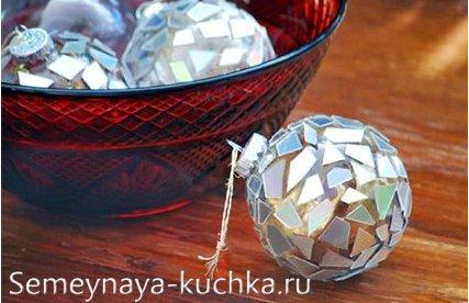 как сделать самому новогодний шар