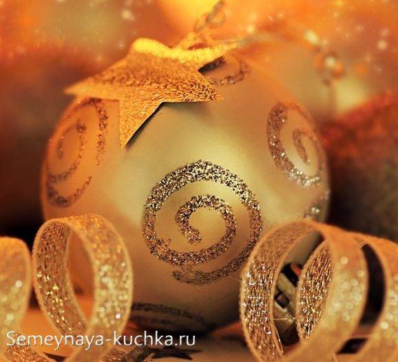как украсить новогодние шары для елки