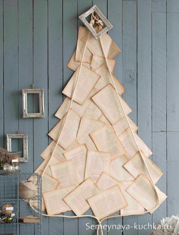 бумажная елка на стену