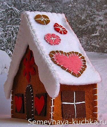 игрушка елочная домик