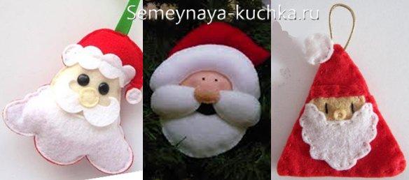 Дед Мороз из фетра сшитый