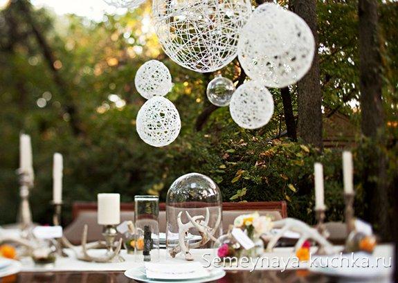 шары из ниток для украшения свадьбы