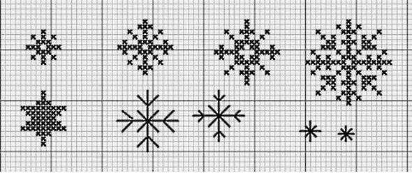 схема вышивки снежинки