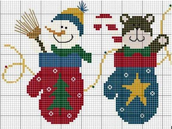 вышивка в новогодней тематике