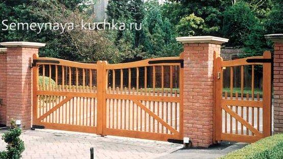 ворота и калитка из дерева