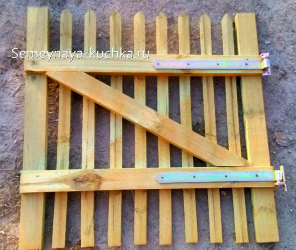 петли на деревянной калитке