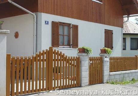 ворота и калитка деревянные
