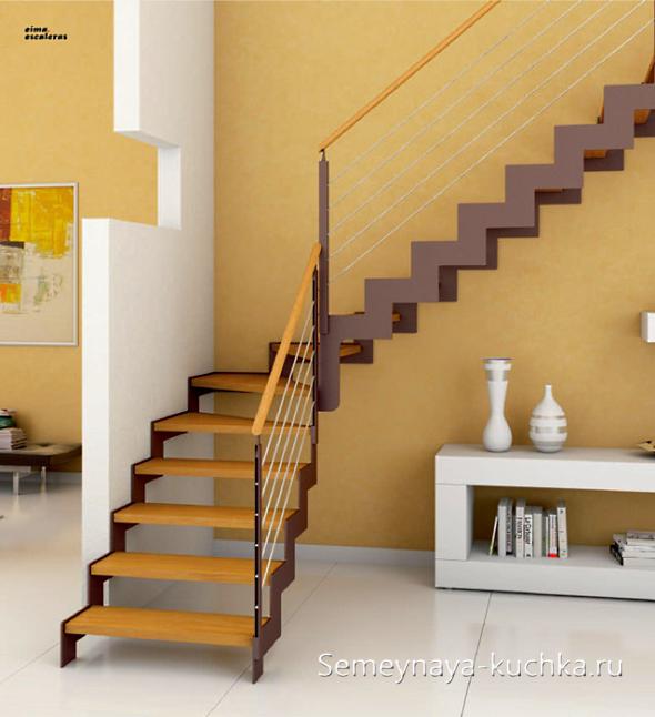 лестница на двух косоурах