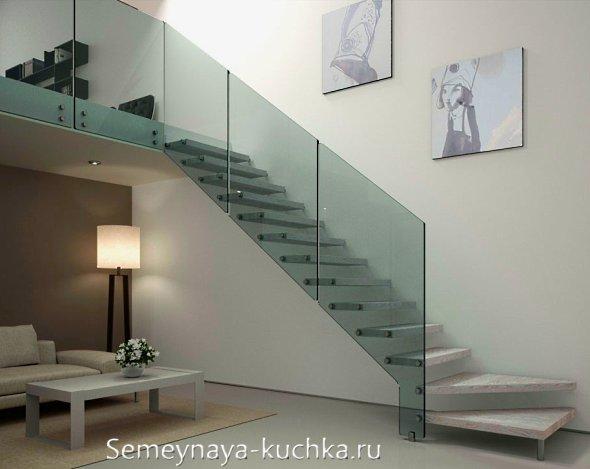 межэтажная лестница из металла