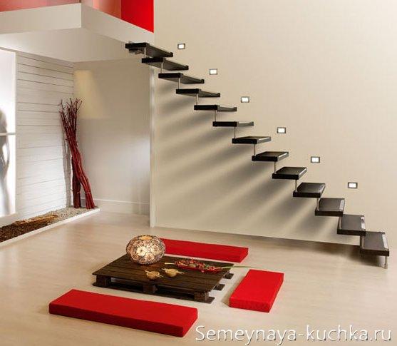 консольная лестница из металла