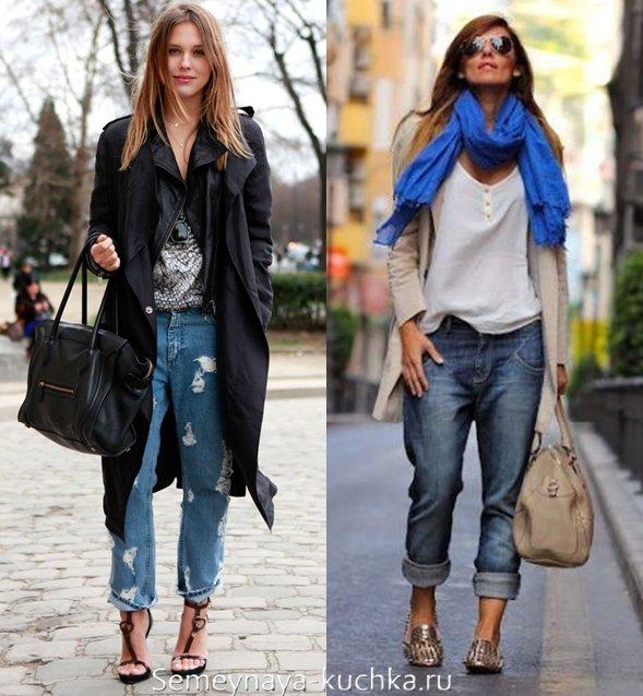 джинсы под плащ