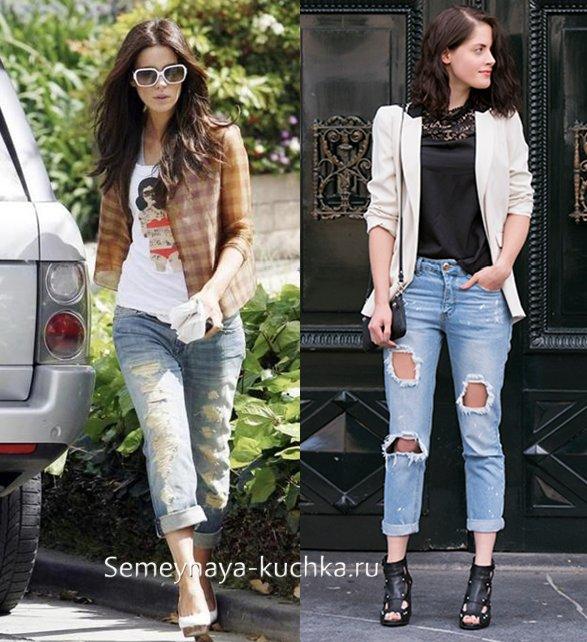 джинсы под пиджак