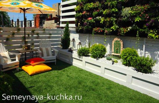 дизайн дворика на маленьком дачном участке