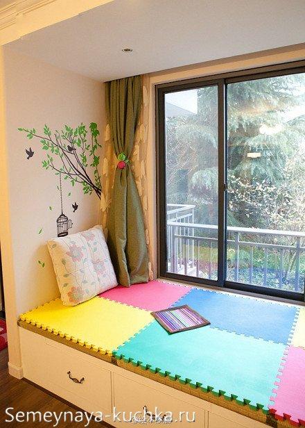 совмещенный балкон