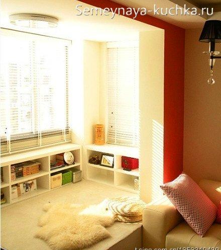 как совместить балкон с комнатой