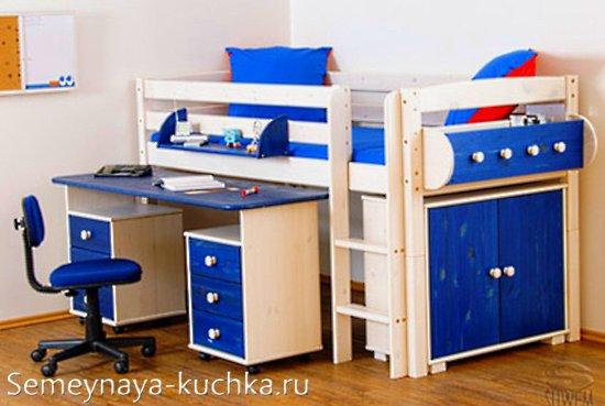 кровать чердак с рабочим столом