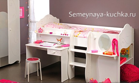 кровать чердак для девочек