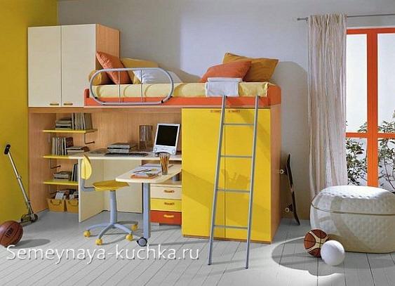 Детская КРОВАТЬ-ЧЕРДАК с рабочей зоной - 48 фото лучших, Семейная Кучка