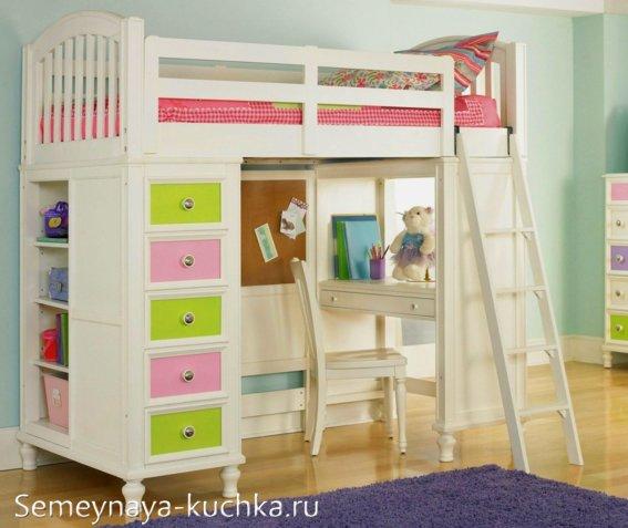 детский чердак кровать