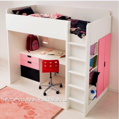 кровать чердак для школьника