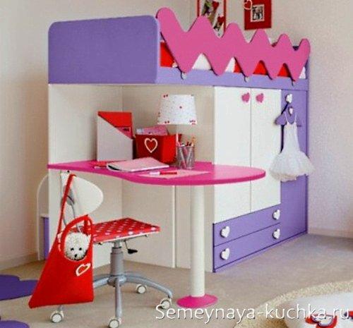 детский шкаф кровать