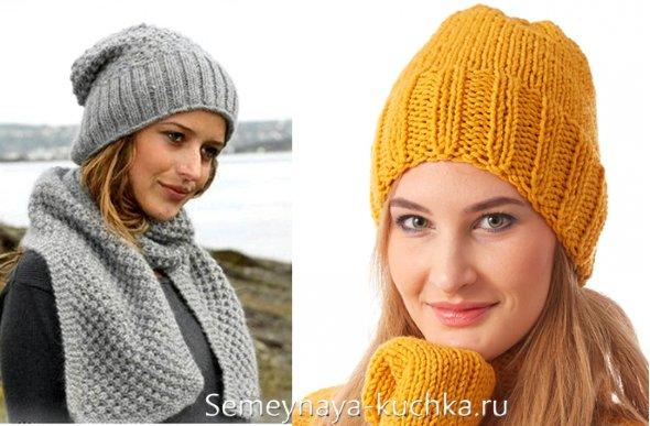 шапки вязанные 2015