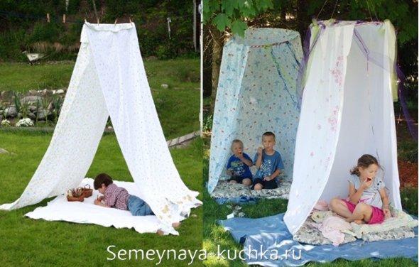 палатка для дачи своими руками