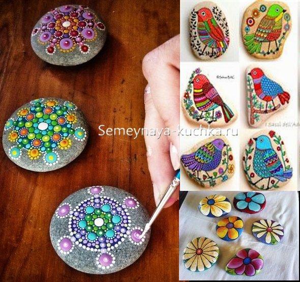 рисунки на камнях для детей