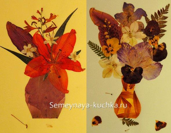 поделки картины из цветов