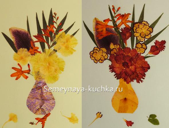 осенние поделки из цветов