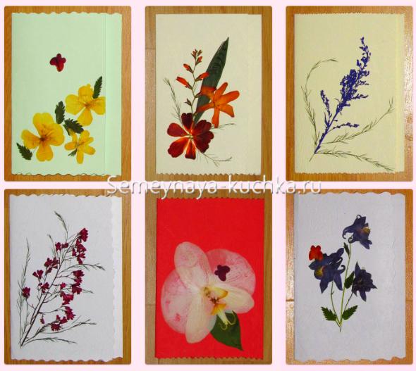картины с сухими цветами