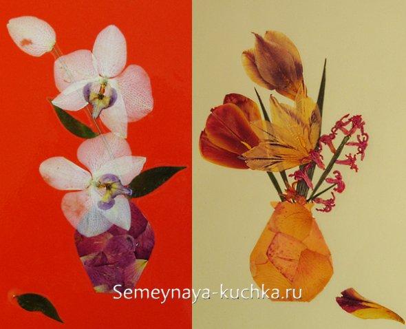 композиция из сухих цветов
