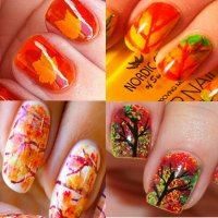 ногти осень