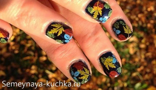 ногти в теме осень