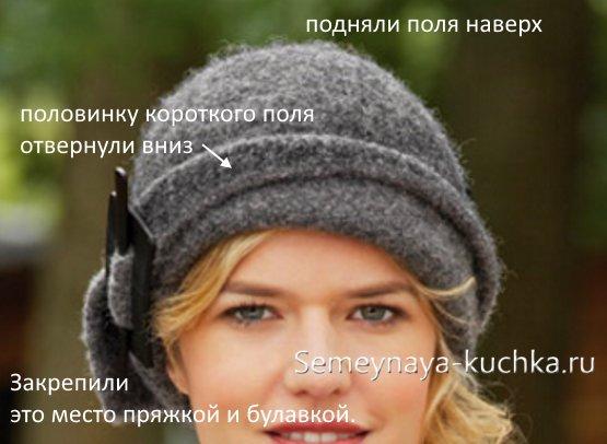 как связать шапку красивую