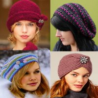 вязанные шапки зима