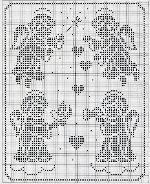 филейное вязание на новый год