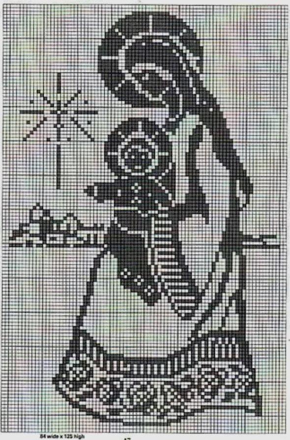 икона крючком схема