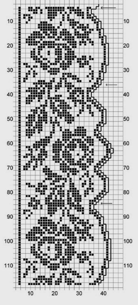 Кайма вязание филейное схемы 27