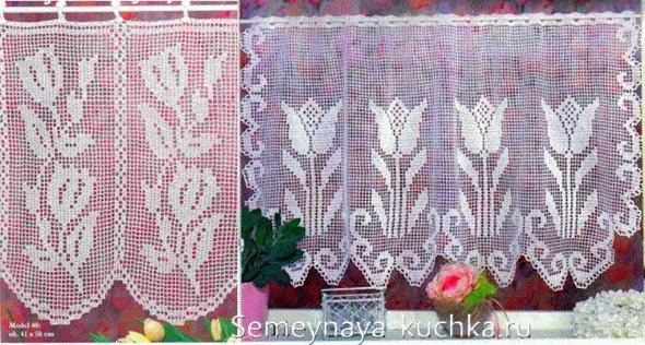 шторы филейное вязание крючком