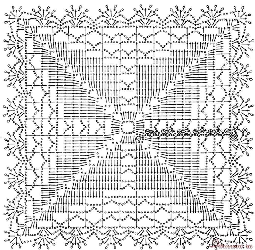 филейное вязание правила 63 схемы и фото семейная кучка