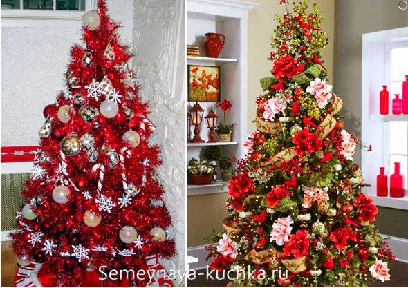 красная елка на новый год