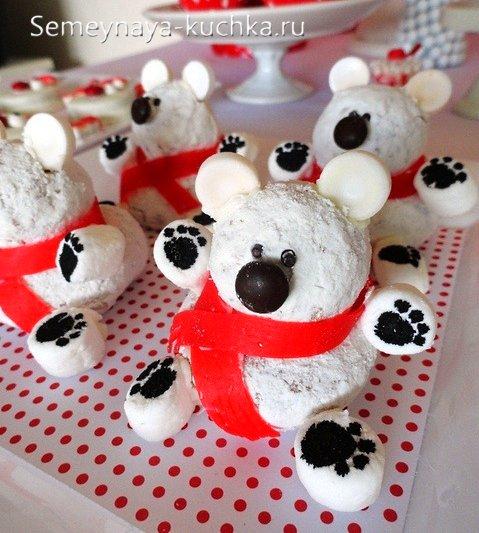 торт мишка на новый год
