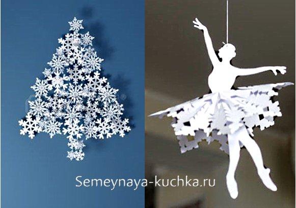 снежинки из бумаги поделки
