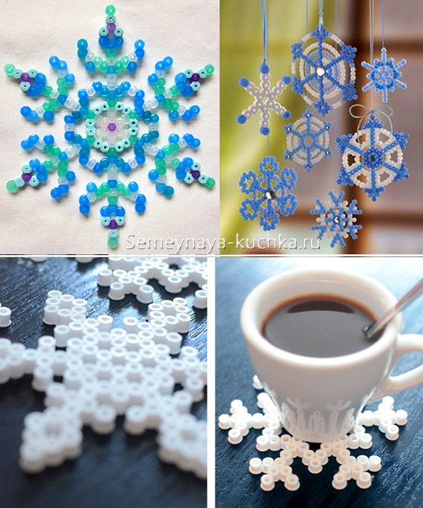 снежинка из термо-мозаики