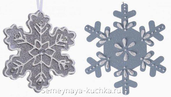 бумажные снежинки с клеем