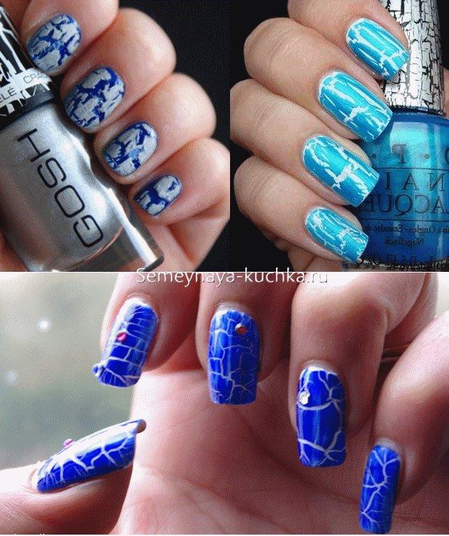 рисунок зима на ногтях