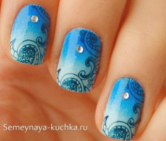 дизайн ногтей зима
