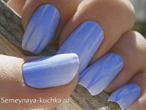 ногти в стиле зима белый с синим