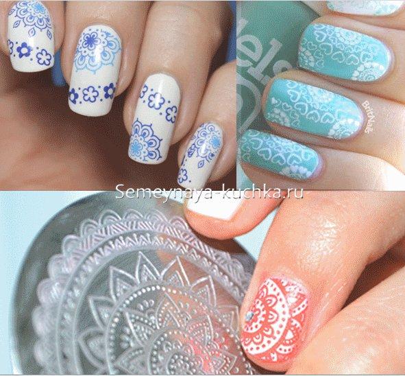 зима дизайн ногтей со снежинкой
